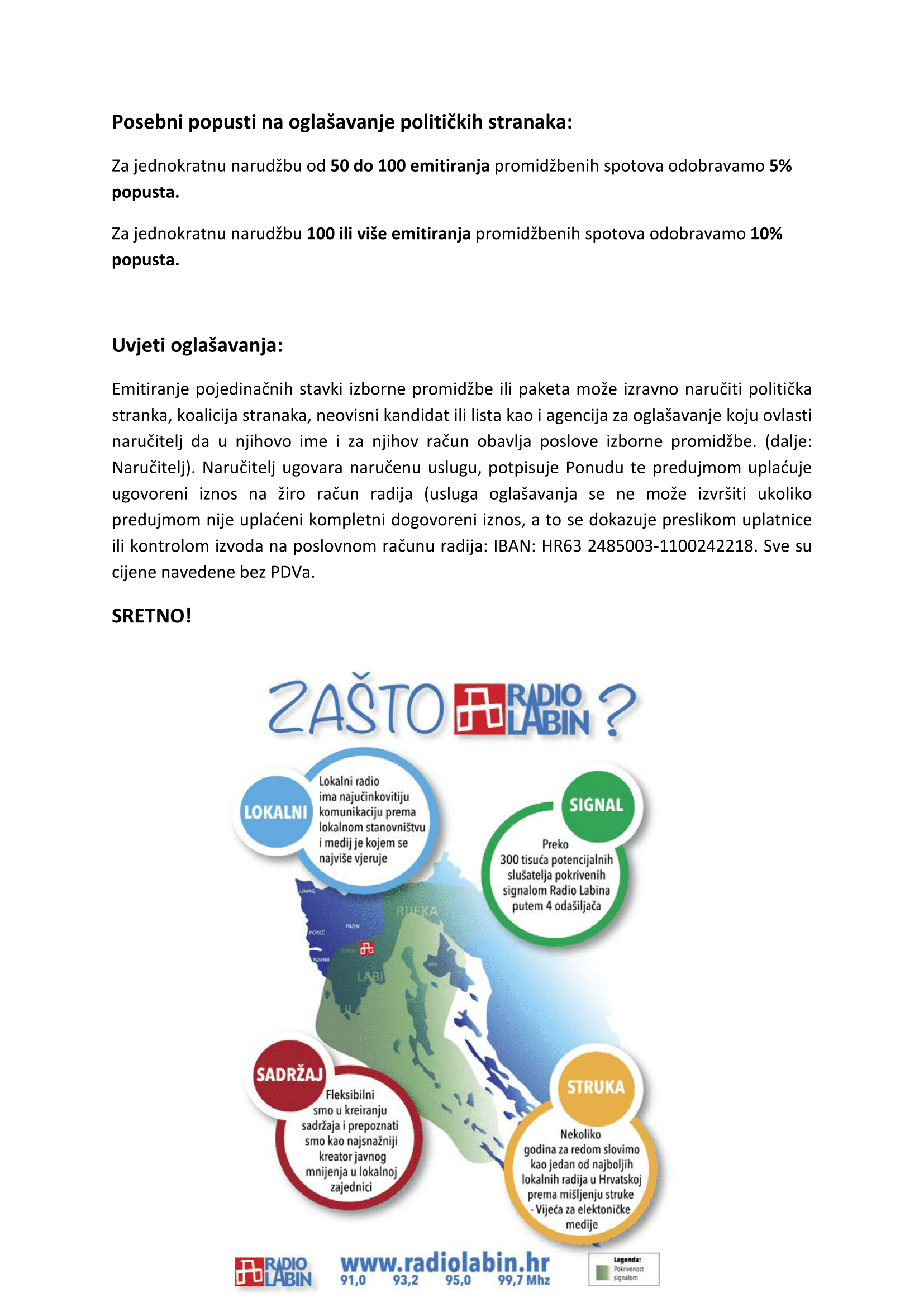 Cjenik izbori za EU Parlament